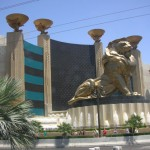 MGMグランドホテル・中に本物のライオンが飼育されていました!